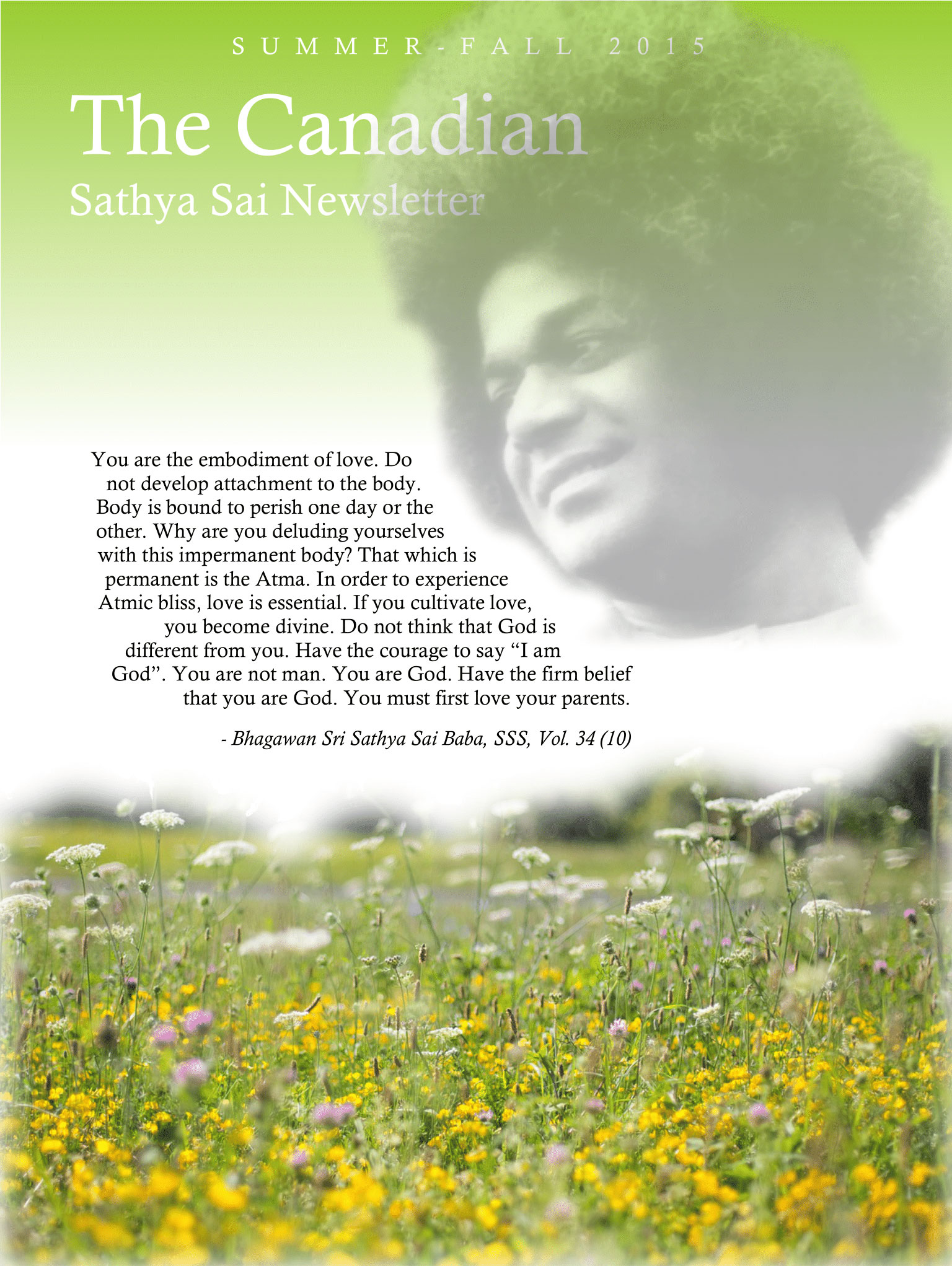 The Canadian Sathya Sai Magazine - Summer-Fall 2015