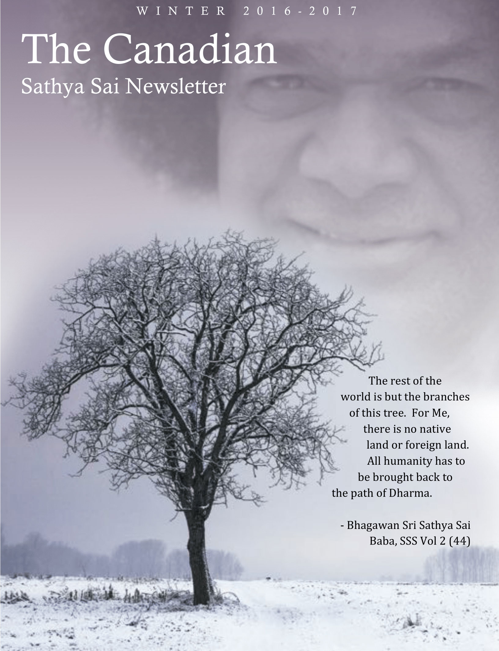 The Canadian Sathya Sai Magazine - Winter 2016-2017